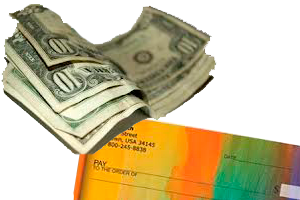 Payments in cash or checks